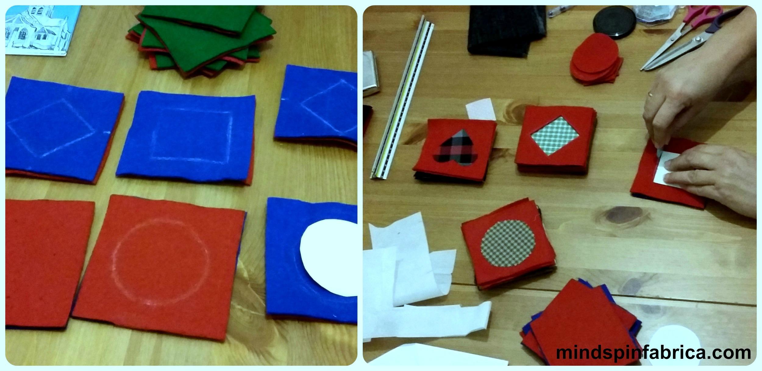 Σχεδίασα με σαπουνάκι γεωμετρικά σχέδια και καρδιές. Διαφορετικά σε κάθε εξάδα για ποικιλία!