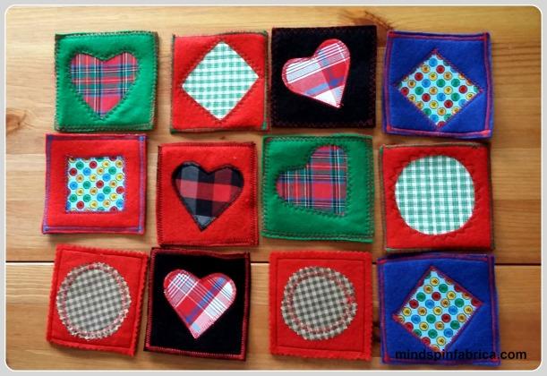 Ποικιλία στα σχέδια, στα χρώματα και στις ραφές.Μοιάζουν με κάρτες από παιχνίδι.