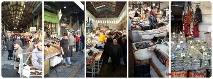 Οδός Αθηνάς. Βαρβάκειος Αγορά. Βουή-χρώματα-αρώματα. Σαν το Καπάνι.