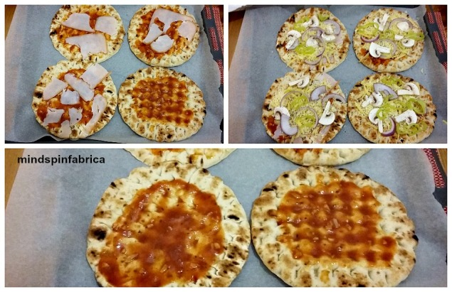 Στρώση- στρώση ατομικές πίτσες με έτοιμες πίτες