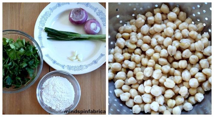 Ρεβύθια, μαϊντανός, κρεμμύδια και σκόρδα.