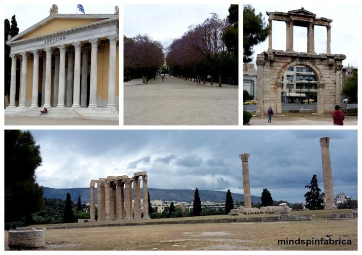Ζάππειο, Πύλη Ανδριανού και Ναός Ολυμπίου Διός