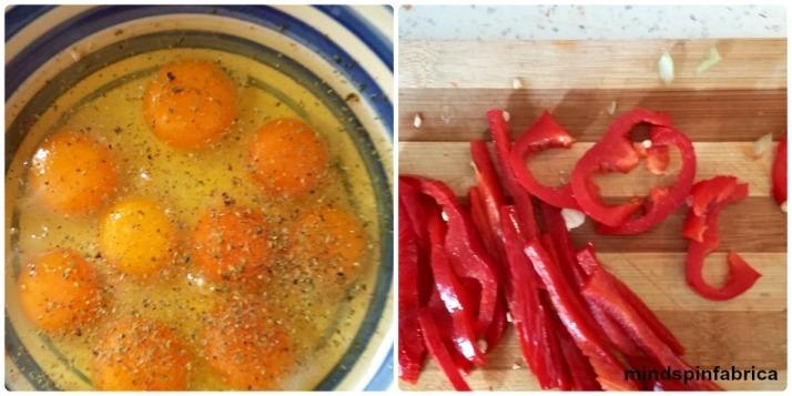 Αυγουλάκια φρέσκα και πιπεριά φλωρίνης