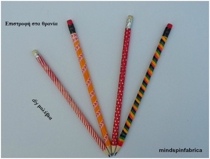 Diy πολύχρωμα μολύβια με washi tape_mindspinfabrica