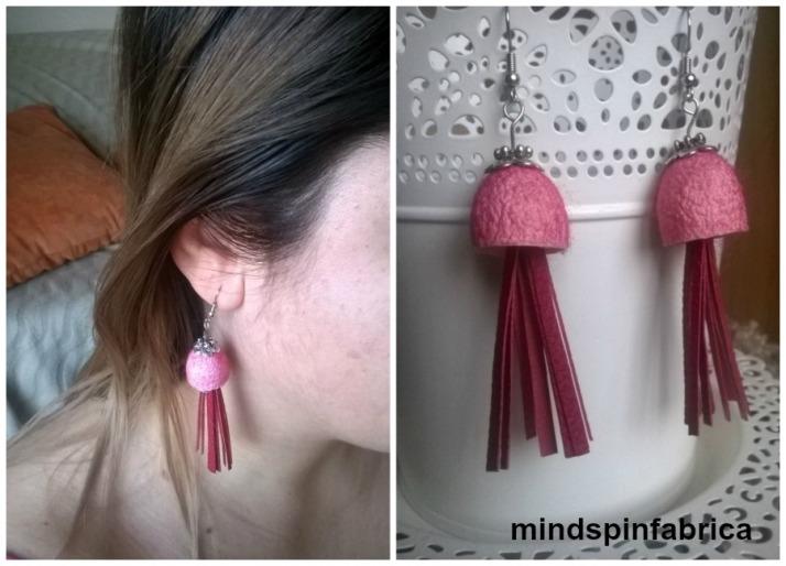 Σκουλαρίκια με κουκούλια και φούντες_mindspinfabrica