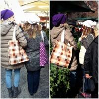 Τσάντες για ψώνια από μουσαμά, μια φωτογράφιση και ένα giveaway.