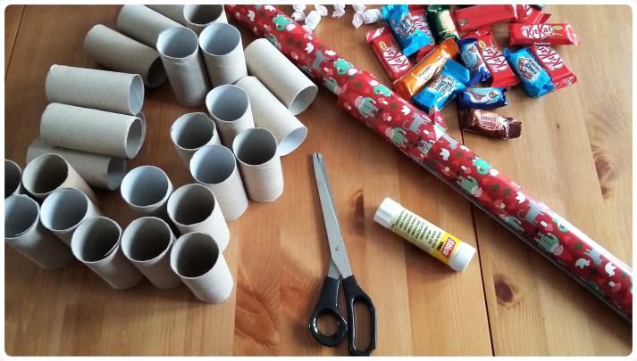 Υλικά για advent calendar με ρολά από χαρτί υγείας