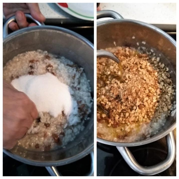 Νηστίσιμη ρυζόπιτα με σταφίδες και καρύδια_mindspinfabrica