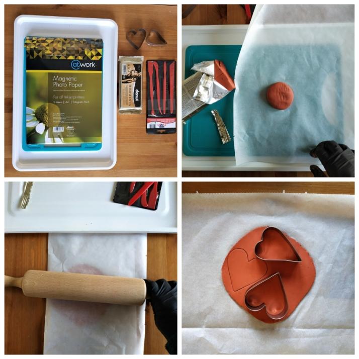 Υλικά και διαδικασία για καρδιές από αυτοξηρούμενο πηλό