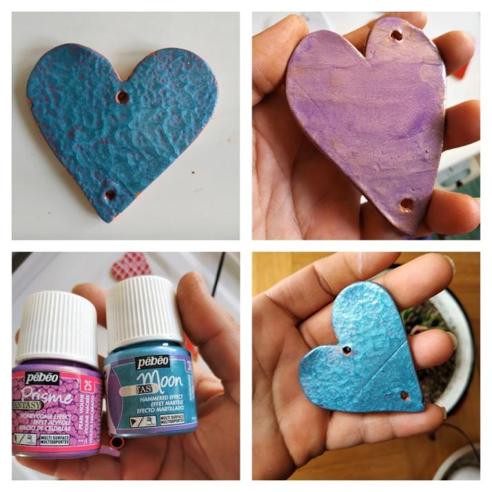 Diy καρδιές μαγνητάκια από αυτοξηρούμενο πηλό.