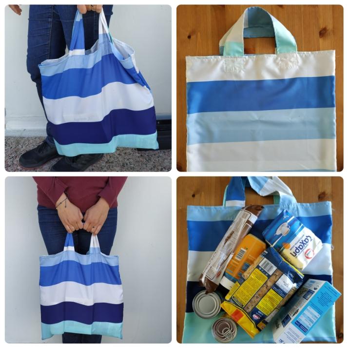 Τσάντα για ψώνια από κουρτίνα μπάνιου