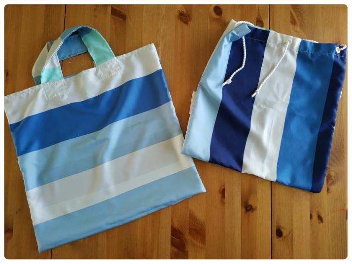 Πουγκί και τσάντα για ψώνια από κουρτίνα μπάνιου